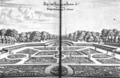 Parterre of the Luxembourg Garden c1615 engraved by Zeillerus - Hazlehurst 1966 fig25.png
