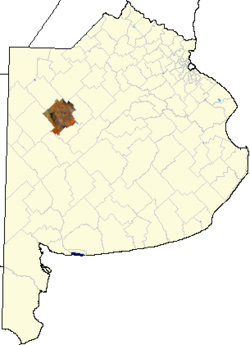 location of Pehuajó in Buenos Aires Province