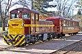 Passenger service at Matrafured Station of the Matravasut tourist railway (33910613402).jpg