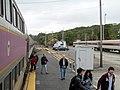 Passengers detraining at Rockport station.JPG