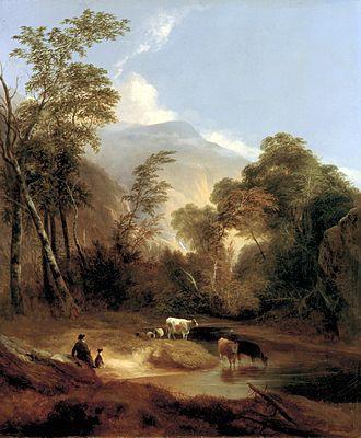 Pastoral - Alvan Fisher, Pastoral Landscape, 1854