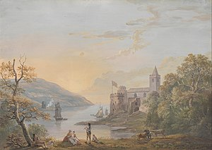 Dartmouth Castle - A depiction of the castle in 1794, by Paul Sandby