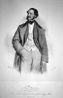 Paul Taglioni, Lithographie von Josef Kriehuber, 1856 (Quelle: Wikimedia)
