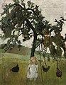 Paula Modersohn-Becker - Elsbeth mit Hühnern unter Apfelbaum.jpg