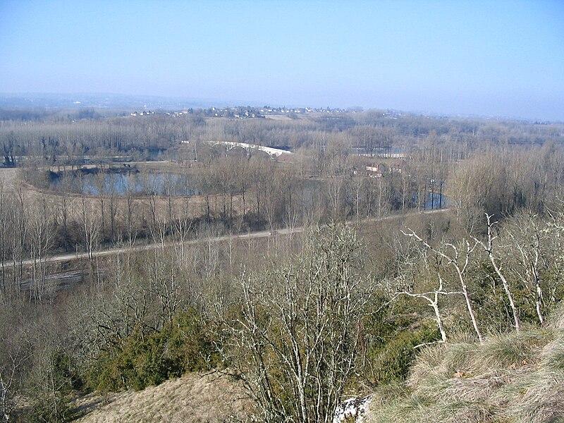 Pelouse sèche de Cordon - Brégnier-Cordon - Vue sur les sablières et le Rhône -