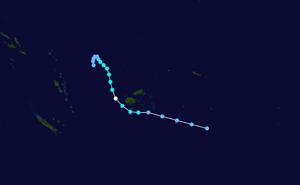 1979–80 South Pacific cyclone season - Image: Peni 1980 track