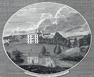 Agnes Porter - Penrice Castle in 1792 (and mansion) where Porter's diaries were found