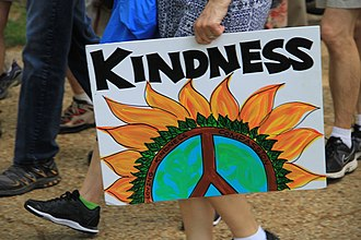Kindness - Placard for kindness, at the People's Climate March (2017).