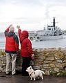 People Waving to Royal Navy Ship HMS Sutherland MOD 45154733.jpg