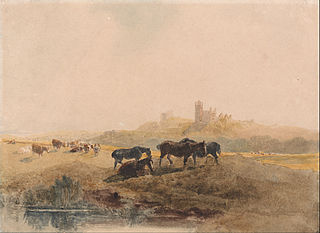 Horses Resting in a Meadow near Bolsover Castle