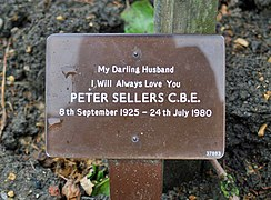 Peter Sellers ashes, Golders Green Crematorium - geograph.org.uk - 825499.jpg