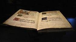 Petrus Alamire (atelier) Mechels koorboek (ca.1515 perkament) Museum Hof van Busleyden Mechelen 6-07-2018.jpg