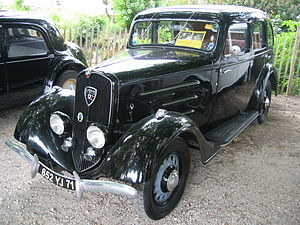 Peugeot 201 - The 201 was typical of many western European family saloons in the way that during the 1930s the standard body was redesigned to incorporate new ideas on streamlining