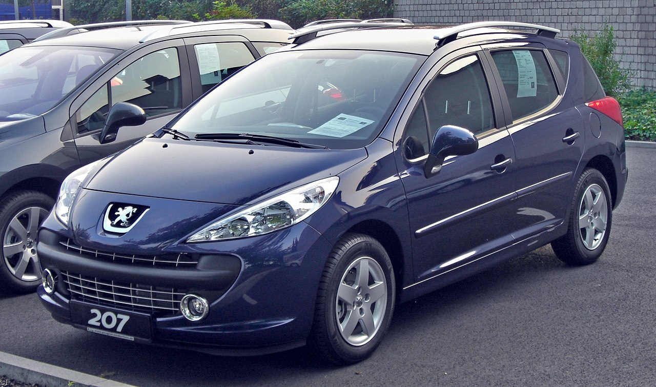 file peugeot 207 sw front jpg wikimedia commons. Black Bedroom Furniture Sets. Home Design Ideas