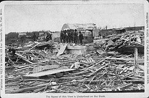 1886 Sauk Rapids tornado - The Sauk Rapids courthouse in ruins