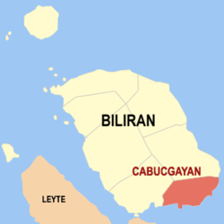 Map of Biliran showing the location of Cabucgayan