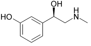 Chemical structure of Phenylephrine