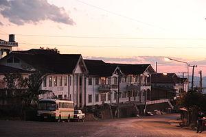 Phongsaly Province - Street in Phongsali