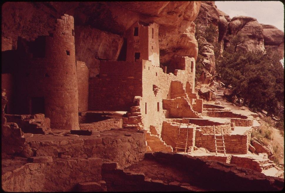 Photograph of Cliff Palace at Mesa Verde National Park - NARA - 544922