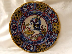 Gualdo Tadino - Traditional umbrian ceramic plate