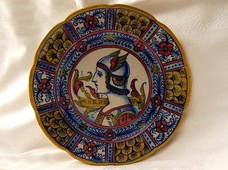 Gualdo Tadino - Traditional umbrian ceramic plate