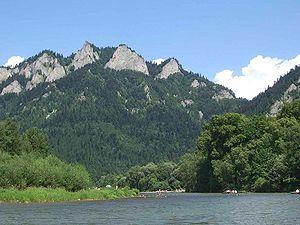 Pieniny National Park (Poland) - View of Trzy Korony Massif from Dunajec River