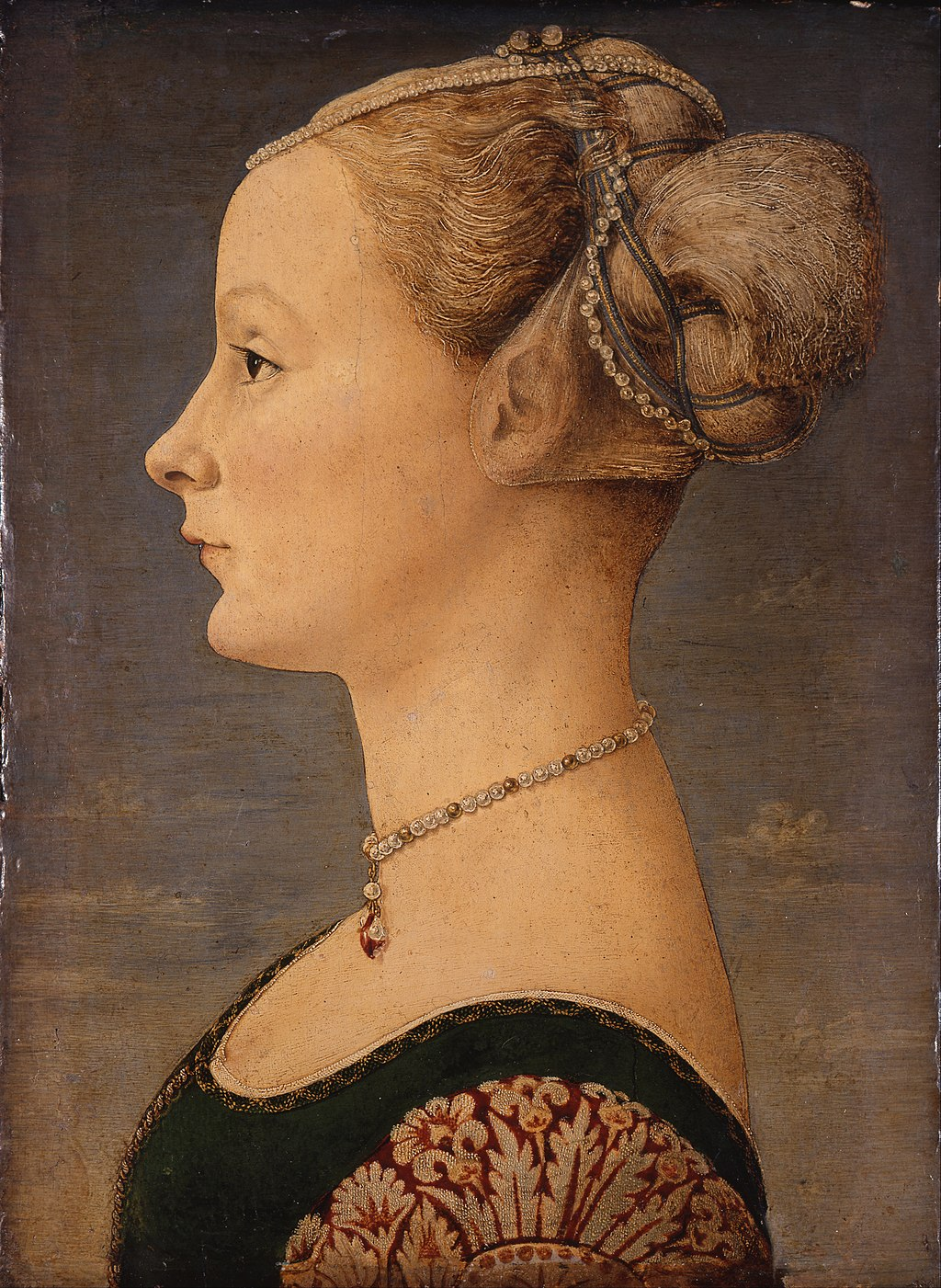 """Portrait of a Girl"" by Piero del Pollaiolo"