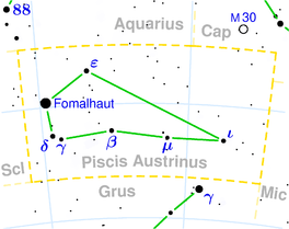 Piscis austrinus constellation map