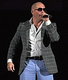 Pitbull the rapper in performance (2011)