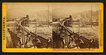 Placer Mining at Volcano%2C Amador County%2C from Robert N. Dennis collection of stereoscopic views