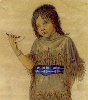Friedrich Richard Petri - Plains Indian Girl with Melon