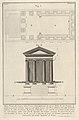 Plan and facade of the Temple of Fortuna Virilis (Tempio della Fortuna Virile), from the series 'Le Antichità Romane' MET DP831897.jpg