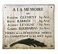 Plaque Clément - Barrot - Lévigne - Bourdarias cours Lafayette à Lyon.JPG