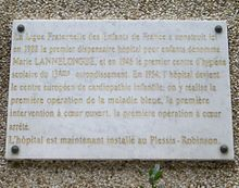 Plaque Marie Lannelongue, 127 rue de Tolbiac, Paris 13.jpg