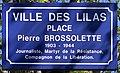 Plaque Place Pierre Brossolette - Les Lilas (FR93) - 2021-04-27 - 1.jpg