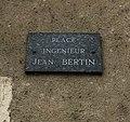 Plaque de la Place Ingénieur Jean Bertin à Druyes-les-Belles-Fontaines (Yonne, France).JPG