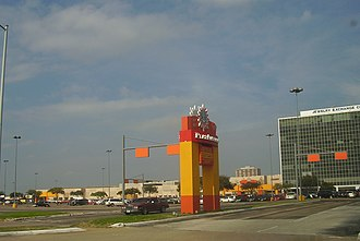 PlazAmericas - View along Bellaire Boulevard