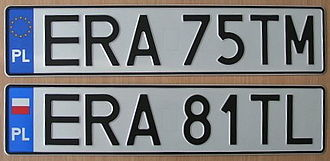 Vehicle registration plates of Poland - Polish license plates from Radomsko