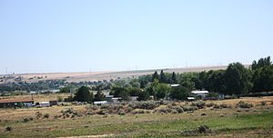 Plymouth, Washington - Plymouth, Washington with Columbia River in background.