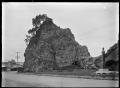 Pohaturoa Rock at Whakatane, showing the memorial to Te Hurinui Apanui. ATLIB 291219.png