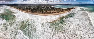 Anglesea, Victoria - Point Roadknight Back Beach Aerial Panorama. Shot September 2018.