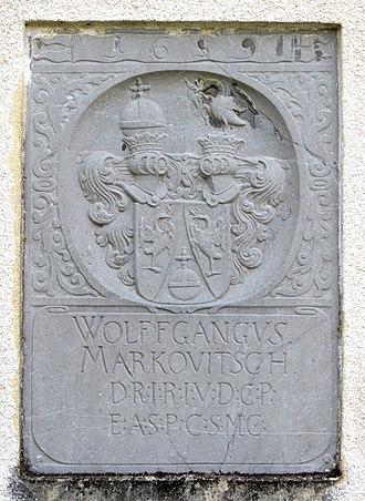 Pokojišče - Plaque commemorating Wolfgang Markowitsch