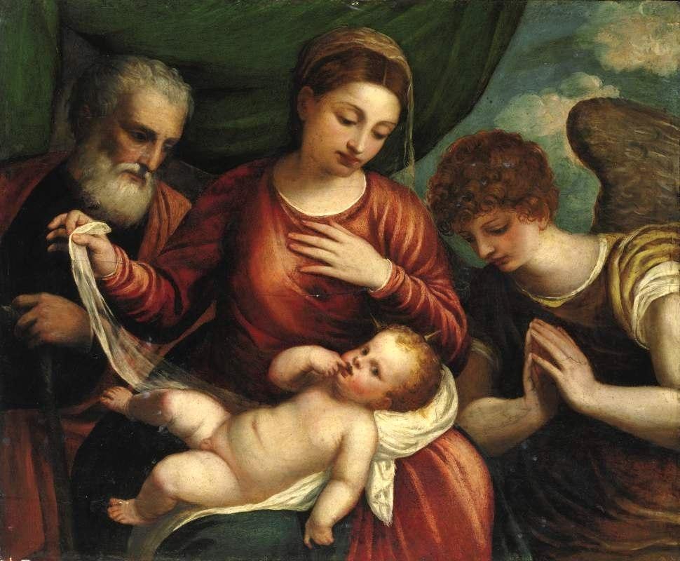 Polidoro da Lanciano Holy Family with Angel