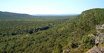 The Porcupine Mountains on the Upper Peninsula...
