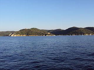 Port-Cros French island in the Mediterranean Sea