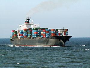 Portland Senator p0 approaching Port of Rotterdam, Holland 08-Jul-2006.jpg