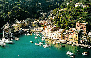 Portofino, a small Italian fishing village on ...