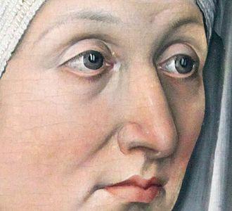 Portrait Diptych of Dürer's Parents - Detail of Barbara's portrait