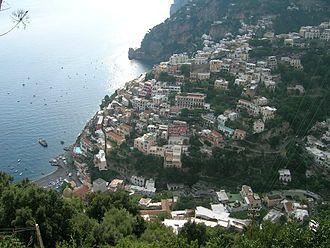 Amalfi Coast - Panoramic view of Positano