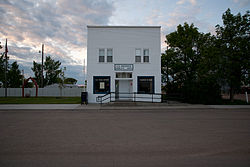 Post office in Hague, North Dakota 6-11-2009.jpg